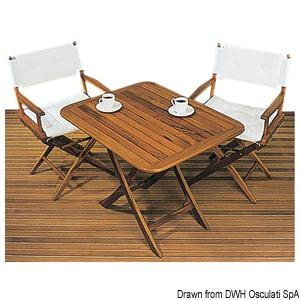 Складной стол ARC из натурального тика