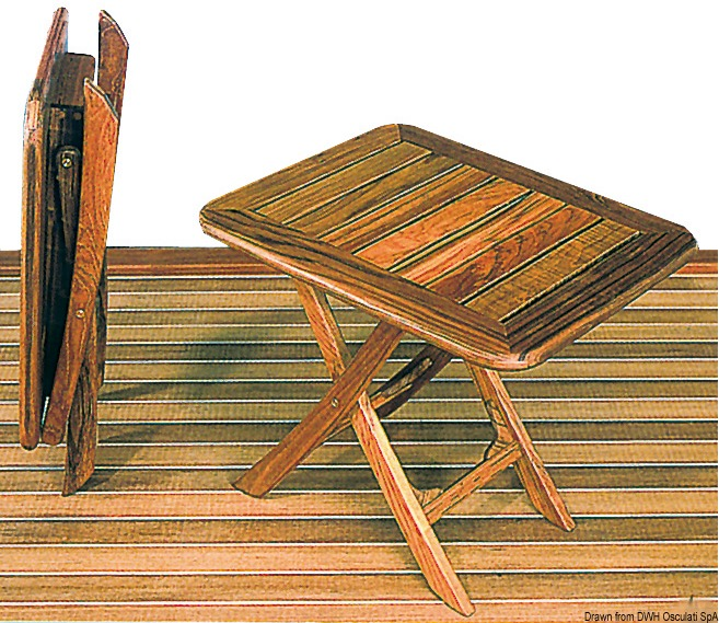 Tavolo pieghevole arc in teak regolabile in altezza - Tavolo regolabile in altezza ...