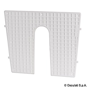 Stern protection plate white 430x350 mm