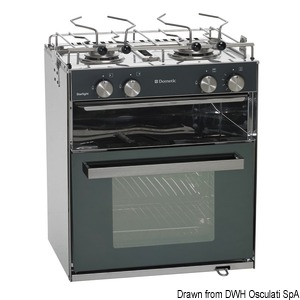 DOMETIC Slim compact gas range title=