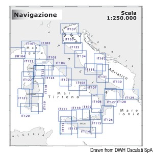Obalna kartografija 1:250.000 NAVIMAP srednja navigacija