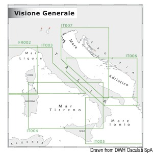 Wide area charts 1:5.000.000 - 1:300.000 NAVIMAP overview title=