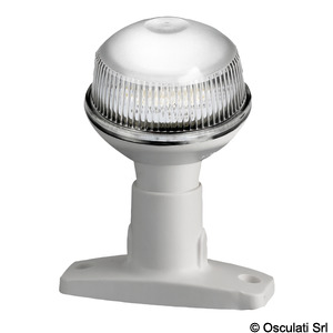 360° lights, poles and combined pole lights for vessels up to 12 metres. RINA and USCG type-approved