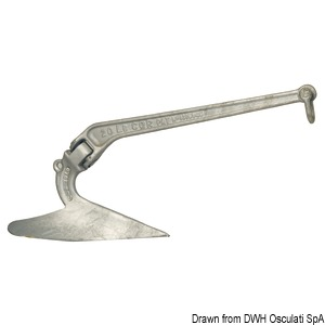 LEWMAR C.Q.R.® hot-galvanized pressed steel anchor title=