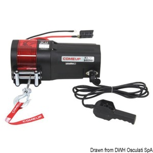 Electric winches for boat hauling, service tenders, jet skis or to fit on boat trailers title=