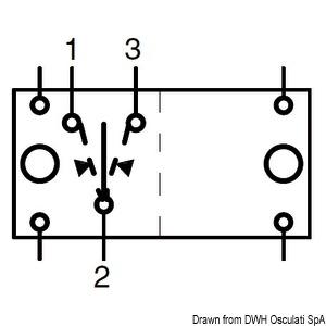 (ON)-OFF-(ON) switch N. 2 white bulbs 12 V