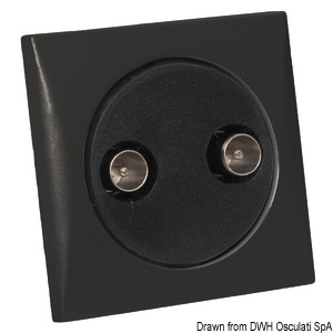 Double TV socket