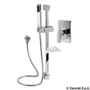 Square shower rail (single-control rail)