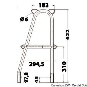 OSCULATI Double Stanchion With Stud