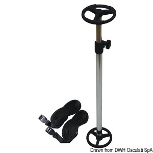 Telescopic support for covers title=