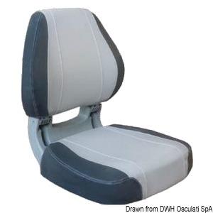 Scirocco ergonomic seat light grey + dark grey