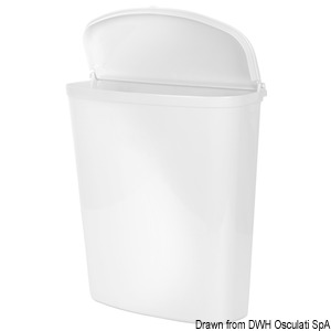 Hanging waste holder with lid title=