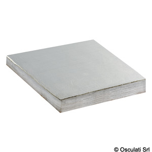 Sound-deadening and sound-insulating panel made of polyesther fibre and white fiberglass fabric title=