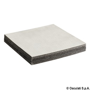 Sound-deadening and sound-insulating panels with perforated synthetic leather title=