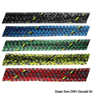 Treccia Marlow D2 Racing 8 mm blu