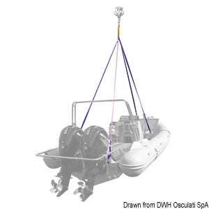 4-arm lifting system for boats and dinghies title=