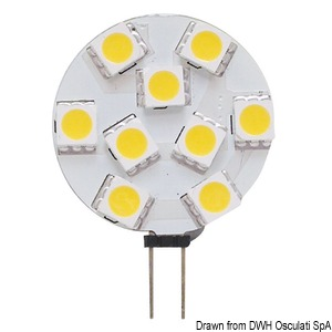 Led Light SMD G4 12/24v side connection