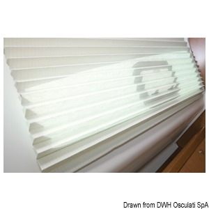 Pleated blind OCEANAIR SkySol PleatedShade for portholes and small windows title=