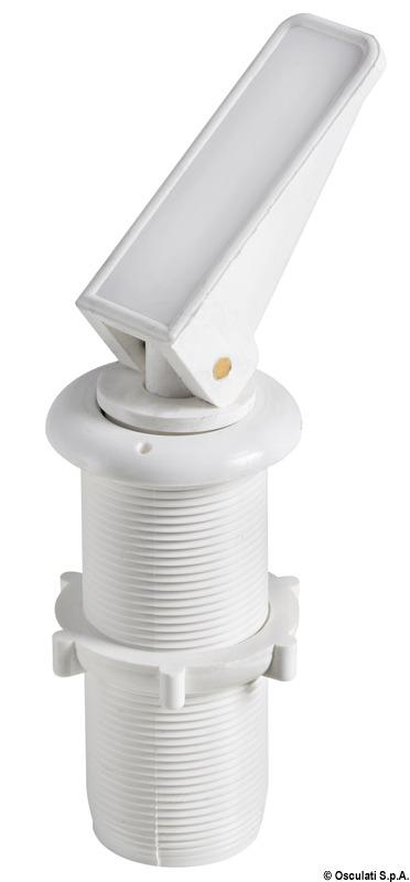 Expandable water drain plug w/bushing white