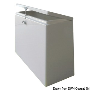 Storage locker and consoles for dinghies