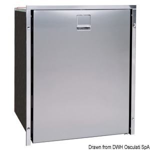 ISOTHERM refrigerator with stainless steel panel - clean touch title=