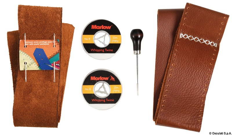 Kit To Cover Steering Wheels W Leather Brown