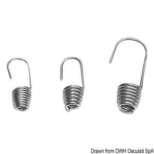 Stainless steel ring hooks for shock cord title=