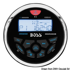 BOSS FM/AM/Bluetooth/USB/MP3 radio for dashboard title=