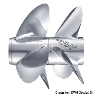 3-blade stainless steel propellers for DP 280/290 type C title=