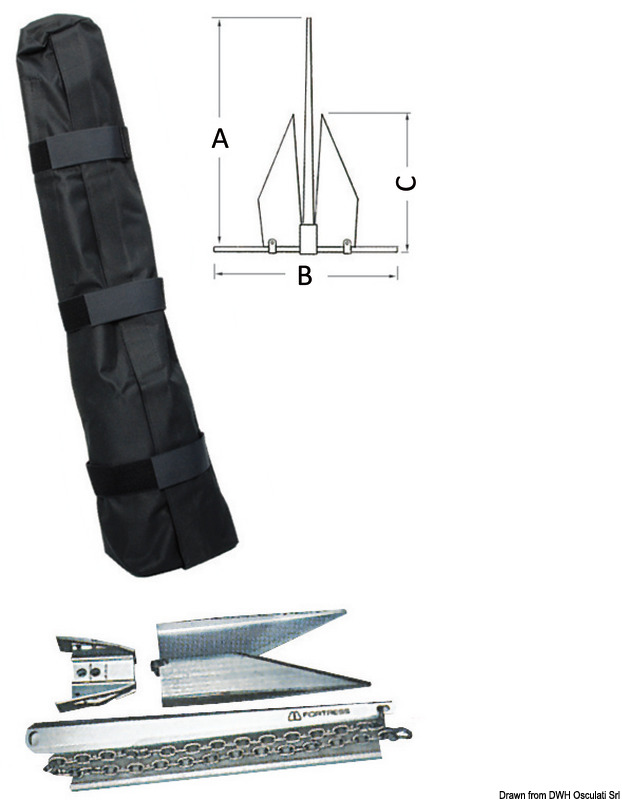 Fortress demountable anchor 4.5 kg