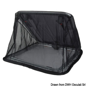 Flyscreen mesh for hatches for outdoor purposes title=