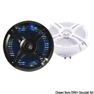 2-way loudspeakers with programmable multicolour LED lights title=