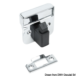 Recess fit lock for doors and drawers title=