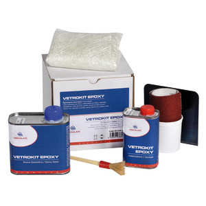 Epoxy resin kit for fiberglass repairs title=