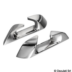 Angled fairlead made of stainless steel, Capri series title=