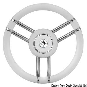 Apollo steering wheel SS+polyurethane Ø350mm white