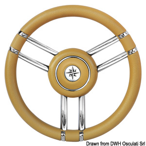 Apollo steering wheel SS+polyurethane Ø350mm ivory