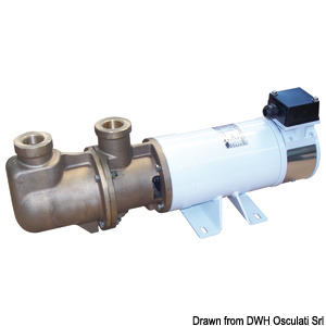 CEM Sbr self-priming electric pump with bronze single screw title=