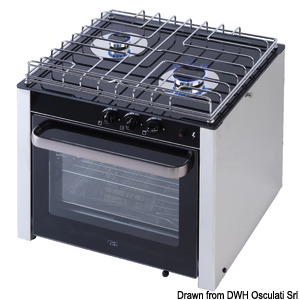 Gas range with cardan joint oven title=