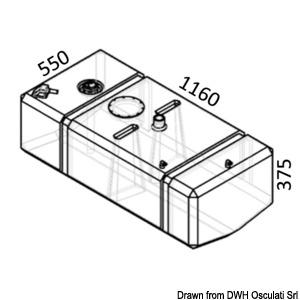 Serbatoio diesel in polietilene reticolato title=