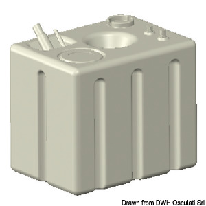 Fuel tank made of cross-linked polyethylene title=