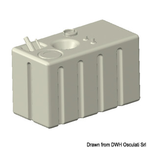 Cross-linked polyethylene fuel tank 248 l