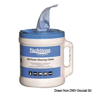 Cleanin Clooth Dispenser YACHTICON title=