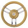 Apollo steering wheel SS+polyurethane Ø350mm ivory