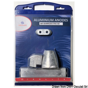 Anodes for Johnson / Evinrude G2 - Series 200-300 engines
