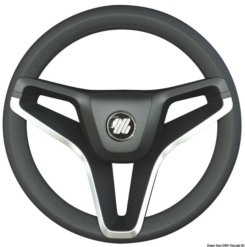 Steering Wheel Black Wheel 350 mm Osculati Volante Corona Nero mm 350
