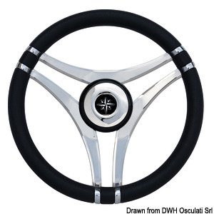 Impact steering wheels with stainless steel spokes title=