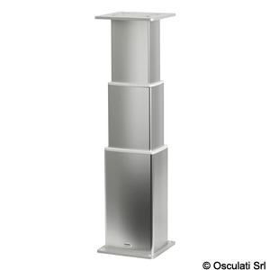 SQUARE-ALU electrical table pedestal title=