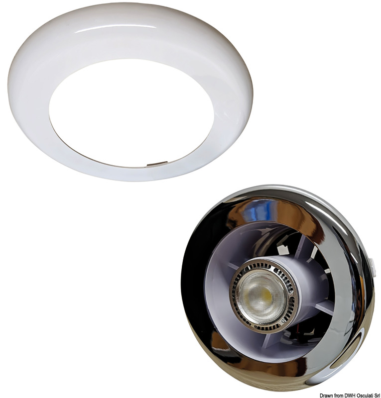 Faretto Led Spot.Extract And Light Recess Fit Led Spot Light With Extractor Fan