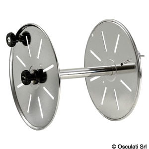 Line drum reel made of polished stainless steel title=